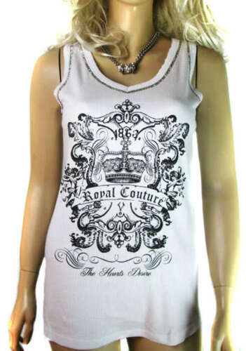 CLEARANCE Size 8-12 LADIES VEST T SHIRT TOP WHITE OR BLACK WOMENS Embellished