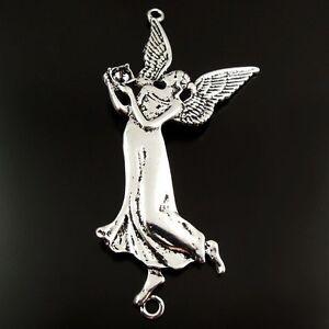 8pcs-Style-Antique-Ton-Argent-Alliage-gracieux-Angel-Charms-Pendants-Bijoux-78-mm