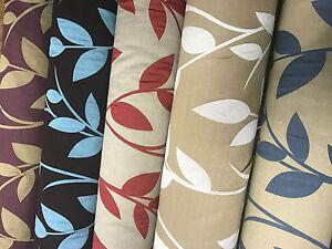 2019-039-Gardenia-039-Flowers-Decor-Designer-Cotton-Upholstery-Curtain-Fabric-Leaves