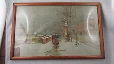 ancien petit  cadre  photo epoque 1920 bois clair pitchpin pin