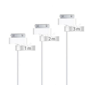 CABLE-POUR-IPHONE-4S-4-3Gs-IPAD-1-2-3-IPOD-CHARGEUR-USB-RENFORCE-BLANC-1M-2M-3M