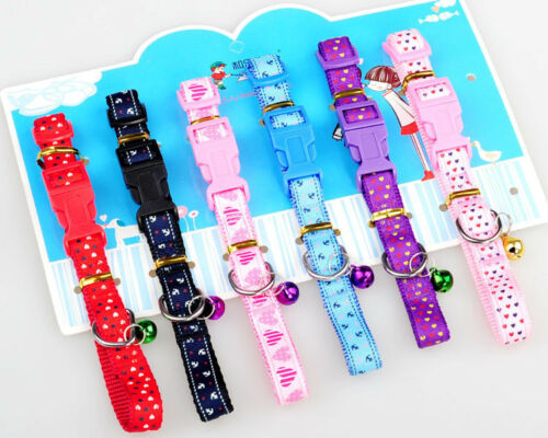 Puppies Colourful Pet Collars for Dogs Cats Medium /& Adjustable