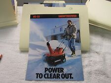 NOS Honda HS-35 SNOWTHROWER   DEALER SALES BROCHURE