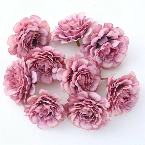 Rose Heads  Bulk  10Pcs Party   Artificial Wedding  Flower   Silk  Decor  Craft