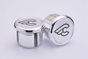 Bar End Caps Bianchi Silver Handlebar End Plugs endcaps vintage New Neu