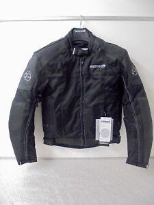 Buffalo-Black-Leather-Textile-Waterproof-Motorcycle-Armoured-Jacket-New