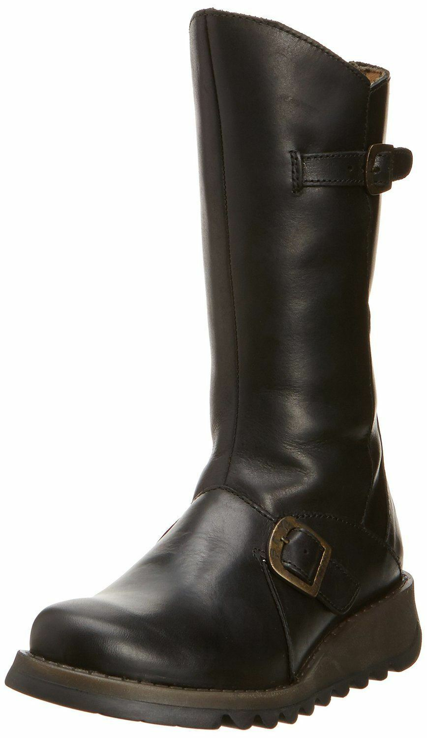 Fly london Mes 2 black Cuir women Mid Calf Bottes