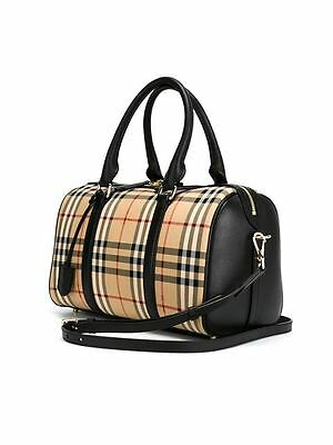 Burberry Horseferry Check Medium Alchester Armour Bowling Bag