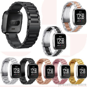 Premium-Stainless-Steel-Metal-Watch-Band-Strap-with-Regulator-For-Fitbit-Versa