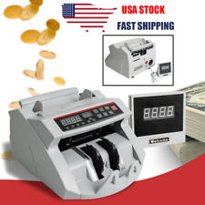 Usa Money Bill Cash Counter Currency Counting Machine Uv Mg Counterfeit Detector