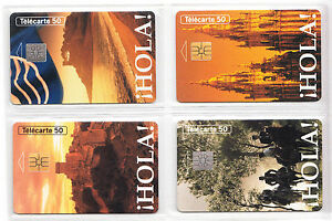 4 TELECARTE - PHONE CARD .. FRANCE 50U PACK ESPAGNE SPAIN OLLA 1994 PUCE C.28€ PUnHxgz1-09154447-396832464