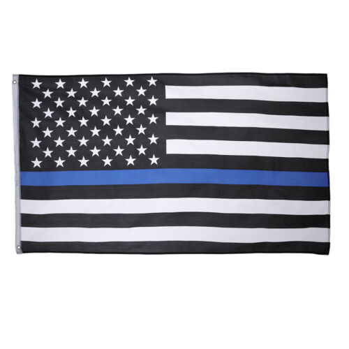 3X5 Police Thin Blue Line USA Memorial Flag 3/'x5/' House Banner Grommets Premium