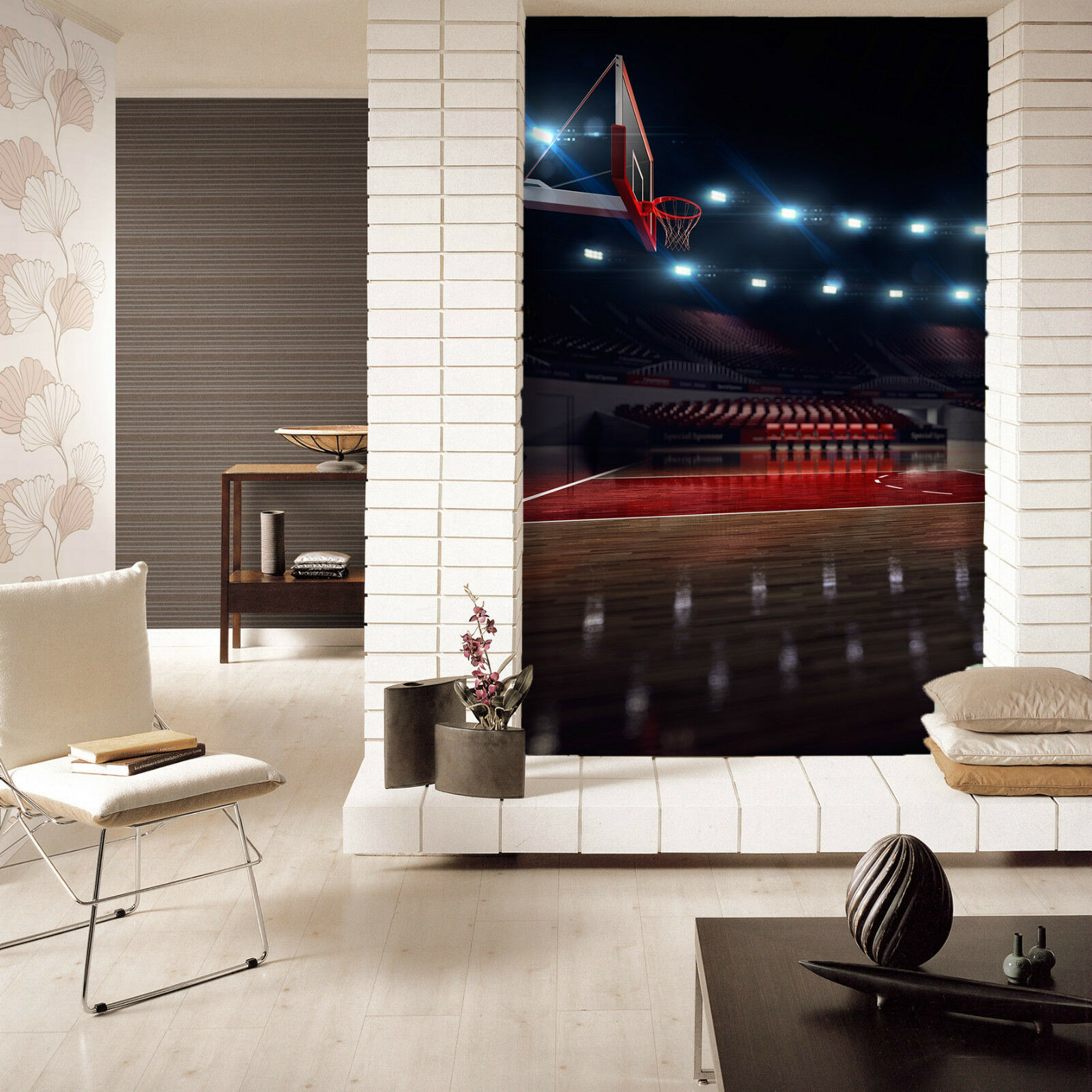 3D Indoor Basketball Basketball Basketball Court 564 Wall Paper Wall Print Decal Wall AJ WALLPAPER CA 2105d0