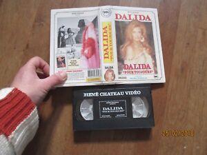 CASSETTE VIDEO VHS CINEMA MUSIQUE RENE CHATEAU dalida pour toujours