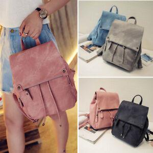 e50fbd98ffe Details about UK Women Mini Leather Backpacks Small Travel Rucksack Ladies  Handbags School Bag