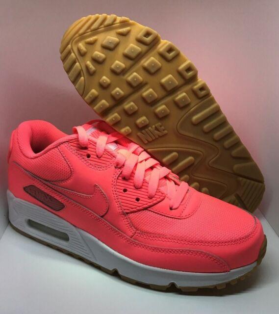 pretty nice b65e1 c5a3f Nike ID Air Max 90 Women Running Shoes Size 10 Hot Pink / White