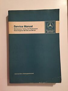 mercedes benz service manual tuning unit replacement diesel engines rh ebay com mercedes om636 diesel engine manual mercedes om636 marine diesel engine manual