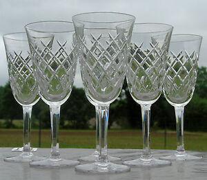 Bayel-Service-de-6-verres-en-cristal-taille-Haut-14-7-cm