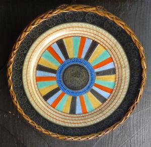 Antiker-Teller-Japanischer-Porzellan-Wandteller-kunstvoll-handgemalte-Motive