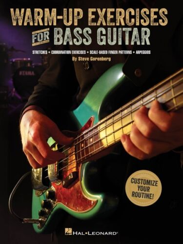 Guitar Educational Book NEW 000148760 Warm-Up Exercises for Bass Guitar