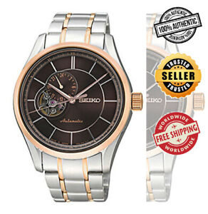 SEIKO-Presage-Automatic-SSA142J1-Men-Sapphire-Rose-Gold-2-Tone-Watch-Japan-Made