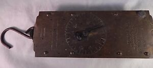 Vintage Chatillons Improved Circular Spring Balance Brass Scale Working 60 lbs