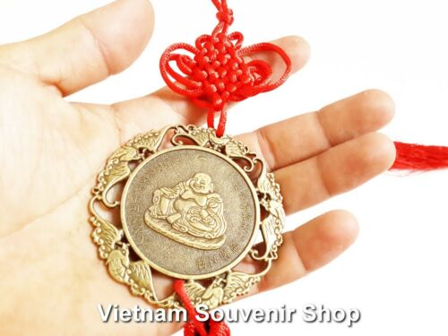 Handmade lucky coin with fish-Hanging Wall Decoration Set 3 Feng shui coin