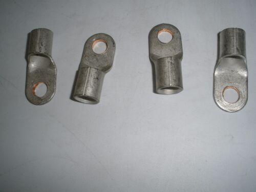 TIN PLATED BATTERY COPPER LUG  1 GA  3//8/'/'   25 Pcs.