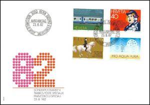 FDC-Suisse-Timbres-poste-speciaux-23-8-1982