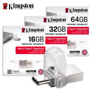 Kingston-DTDUO3C-16GB-32GB-64GB-Data-Traveler-Micro-Duo-USB-U3-1-Type-C-OTG