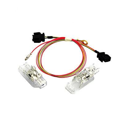 2Pcs New Door Panel Light & Cable Set For AUDI A3 S3 A4 A6 S6 A8 S8 Q5 Q7