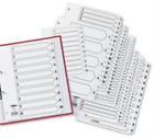Jtcs55 Concord Classic Index 1-50 A4 White Board With Clear Mylar Tabs