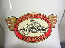 """Orig.1950s/60s """"E W BURNETT + SONS""""Lambretta / Vespa norton triumph  Dealer"""