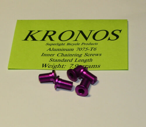 Kronos Aluminum Alloy Inner Chainring Bolts Purple 5 pcs. 13.5 mm long