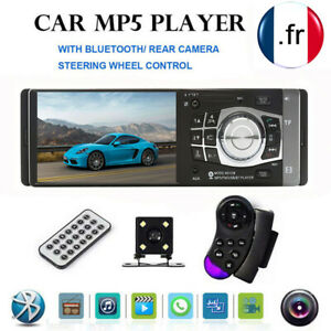 1DIN-HD-4-1-034-Autoradio-MP3-MP5-Player-Bluetooth-FM-USB-TF-Aux-Input-Camera