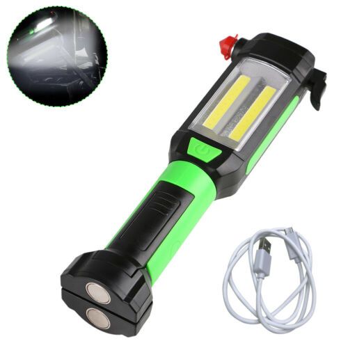Magnetic LED COB Inspection Lamp Work Flashlight Light USB Rechargeable Torch G