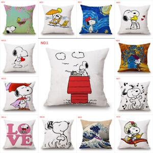 Cute-Snoopy-Dog-Pillow-Car-Sofa-Waist-Cushions-Cover-Anime-Home-Decor-Pillowcase