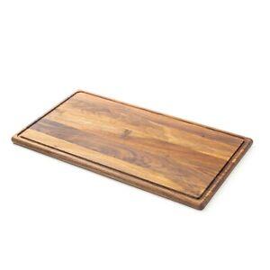 Petit-déjeuner planche planche à découper käsebrett Planche grand bois échiquier lamelles écrou