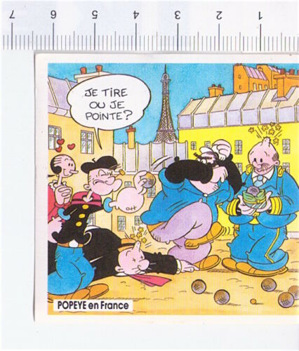 POPEYE BRACCIO DI FERRO 1989 Grosjean France stickers figurine a scelta