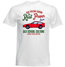 VINTAGE ITALIAN CAR ALFA ROMEO ZAGATO JUNIOR - NEW COTTON T-SHIRT