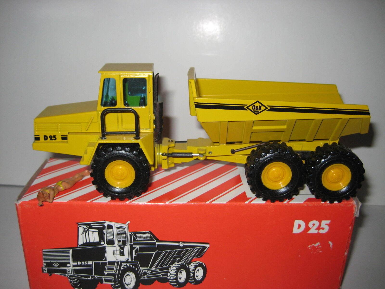 O&k D 25 Dumper jaune  301.6 NZG 1 50  OVP  qualité de première classe