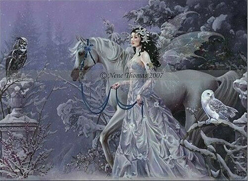 WINTER WINGS  Nene Thomas Print Large Poster Ltd Rare  289 Fairy Goth