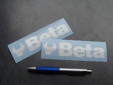 2x stickers BETA tools Auto Moto Blanc 14cm decals pegatinas aufkleber A34-010