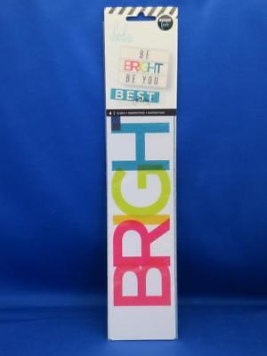 Heidi Swapp Lightbox Inserts 20 Pc BRIGHT ICONS Ice Cream Cat Dog Flamingo More