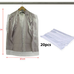 Clear-20pcs-Polythene-Clothes-Covers-Garment-Storage-Protector-Bags-Quality-38-034