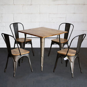 Image Is Loading 3pc 5pc Dining Table Amp Chair Sets Metal
