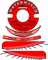 Vintage Antique Waterwitch Outboard Motor Decals 4 Flywheel