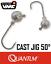 0,98€//Stk. 50° Jighaken Gr.6//0-5er Pack Quantum Cast Jig