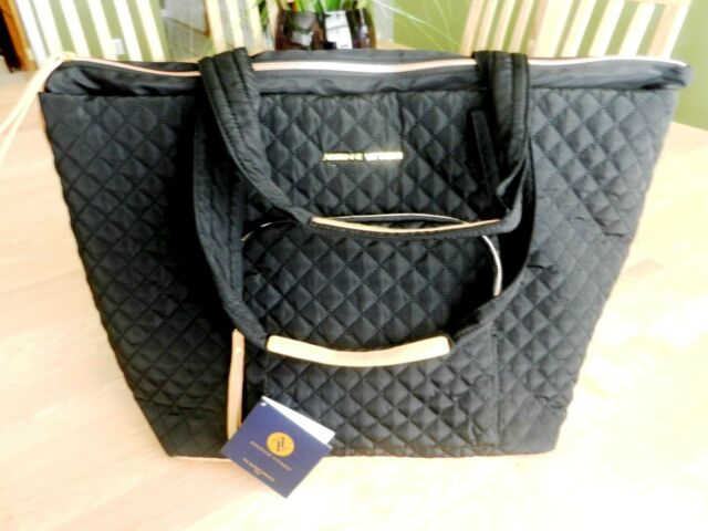 Adrienne Vittadini Black Quilted Tote Traveling Bag Ebay