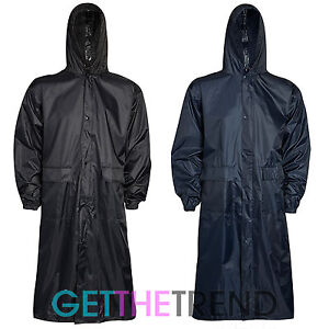 herren damen lang wasserfest trenchcoat cagoule. Black Bedroom Furniture Sets. Home Design Ideas